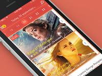 """Movie Planet"" app, header"