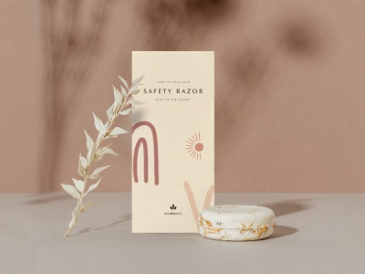 Eco & Basics   Safety Razor Packaging ethical branding sustainable logo illustration packaging