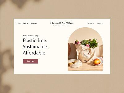 Coconut & Cotton | Zero Waste Brand empowerment vegan brand packaging sustainable ethical illustration branding logo