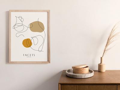 Facets Ethical Dentistry woman vegan brand packaging sustainable ethical logo illustration branding