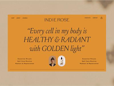 Indie Rose   Ritual Energy Care empowerment skincare vegan yoga packaging sustainable ethical logo illustration branding