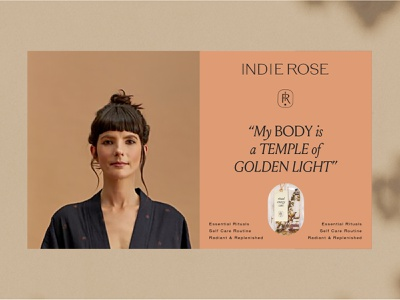 Indie Rose   Ritual Energy Care woman skincare vegan yoga packaging sustainable ethical logo illustration branding