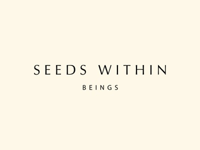 Seeds within Beings   Vegan Skincare fairtrade woman skincare vegan natural organic yoga sustainable empowerment ethical packaging website branding brand logo line drawing illustration