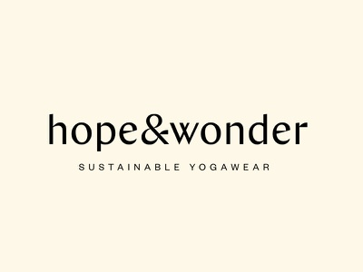 Sustainable Yoga Wear | Hope & Wonder vegan conscious wellness woman sustainable ethical yoga