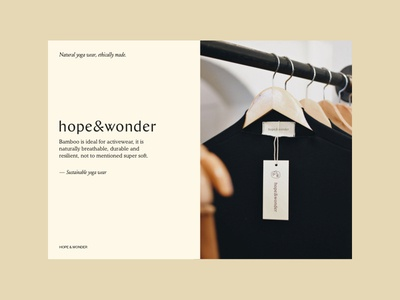Sustainable Yoga Wear | Hope & Wonder