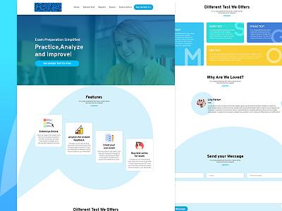 Shot quizz test education preparation education website design templates