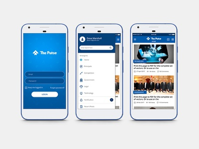The Pulse application mobile app interface user ui