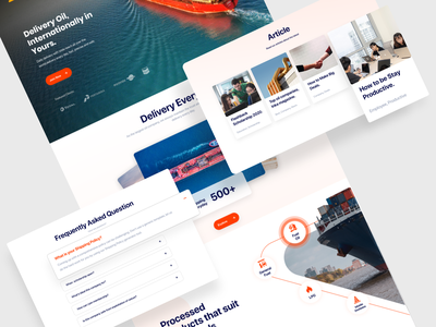 Landing Page - Oil Company Profile gas company gas company branding ship clean minimal agensip landing colorful uiux landing page home page webdesign web oil ux company branding ui design