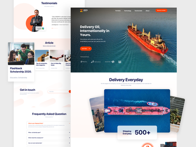 Landing Page | Oil Company Profile gas company gas company branding ship clean minimal agensip landing colorful uiux landing page home page webdesign web oil ux company branding ui design
