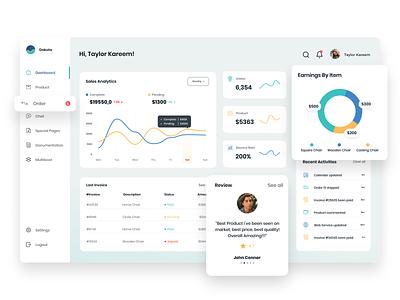 Customer Relationship Management (CRM) - Dashboard stunning uix admin webdesign management website uiux sunday crm dashboard colorful clean branding agensip ux ui design