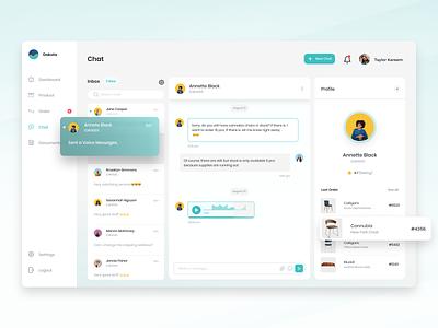 Customer Relationship Management (CRM) - Chat conversation pop notification messages chat message inbox branding design agensip colorful dasboard webpage web clean ui ux