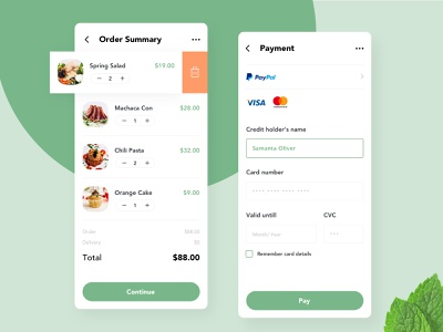 App Card Checkout forms payment order mobile ui app checkout dailyui002