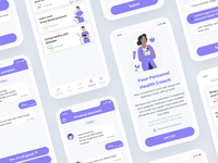 Personal Health Coach App progress navigation bar coach healthcare health personal application dashboard purple android applicaiton flat  design app figma illustraion ios ux ui