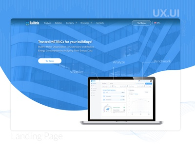 Landing Page for an energy management company