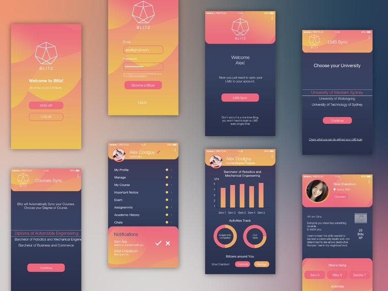 Blitz App Design color ios userinterface userexperiance mobileapp app digital ui ux design