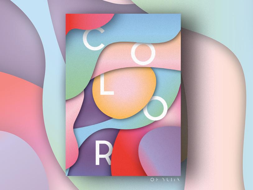 Color gradient vector ui illustration color design