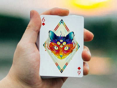 6 of Diamonds by Matei Apostelescu for Edition Zero product design playing cards graphic desgin illustration