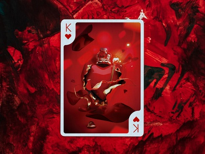 King of Hearts by Jao Oliviera for Edition Zero design deck cards product design graphic desgin playing cards illustration