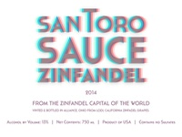 Santoro Sauce Wine Label 2014
