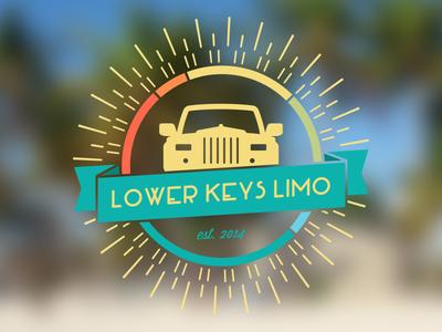 Lower Keys Limo Logo santoro todd limo limousine tropical logo car grill transportation florida keys florida key west