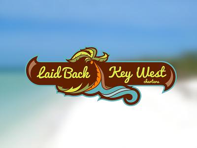 Laid Back Key West Charters wave tree palm tropical ocean charter key west logo