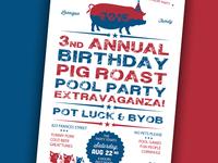 Pig Roast Party Invite