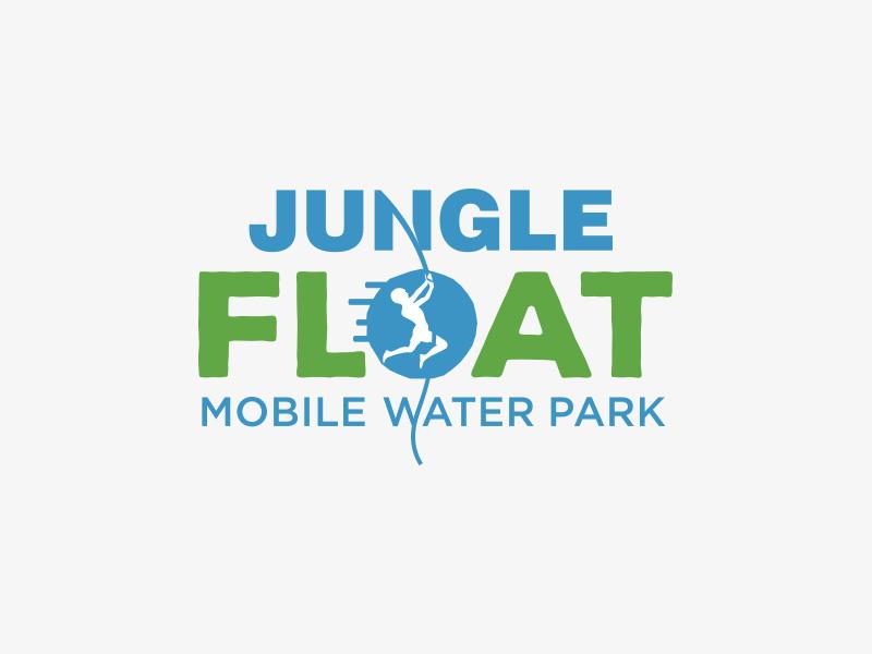 Jungle Float water tarzan jungle design symbol mark icon logo branding