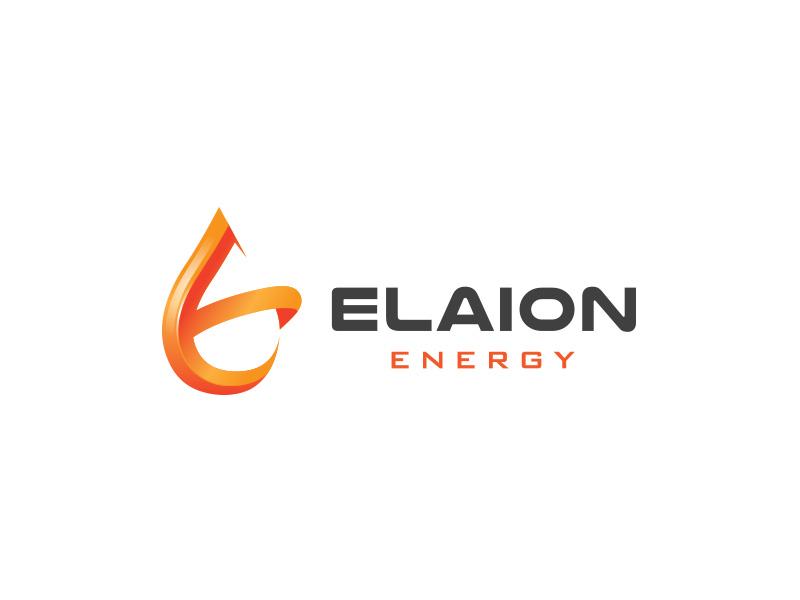 Elaion Energy e symbol design branding logo