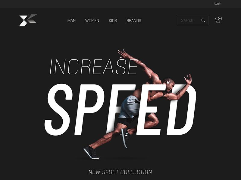 Xinertai_Sport_Webdesign hero image landing page sport speed running motion-graphic graphic design ui  ux design webdesign