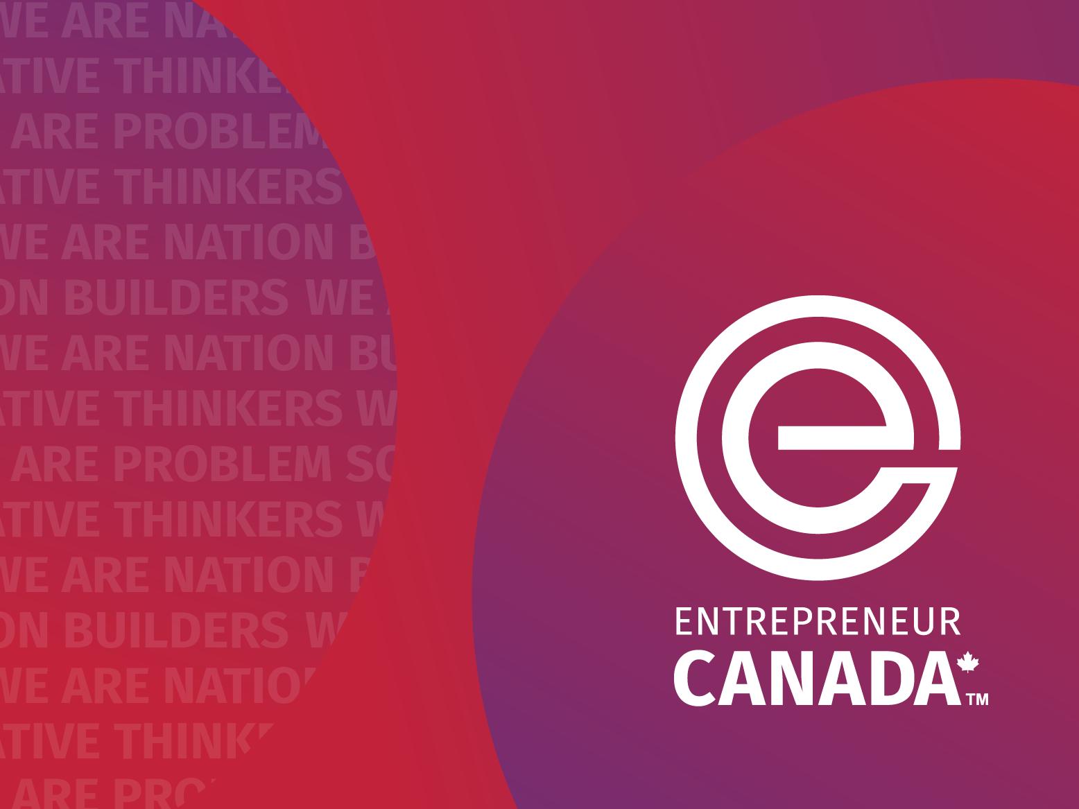 Entrepreneur Canada - Logo startupbranding startup branding entrepreneur logodesign logo