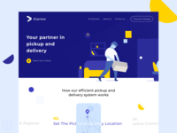 E-commerce Delivery Service Landing Page Concept ecommerce shop ecommerce design ecommerce delivery app delivery service landingpagedesign landingpage website design product design vector illustration vector branding logo illustration user interface design ui design daily ui challenge ui user interface ux