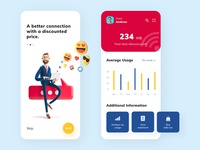 Mobile Network App stats dubai figmadesign figma productdesigner uiuxdesigner 3dimages 3dillustration 3d mobile app design mobile ui networkapp network product design ios mobile app ui design daily ui challenge user interface ux