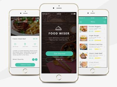 Food Wiser App food order food order app eat app ios ios design app latest mobile aps mobile app ios app food app