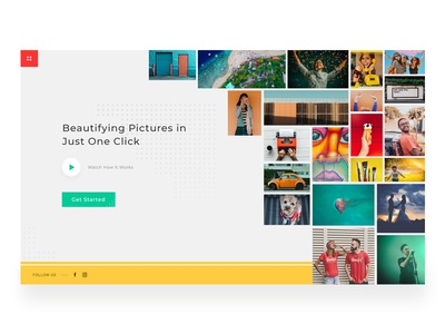 Beauty Feed App. ui ux landing page landing page design web design editing website picture editing website web app design user interface user interface design daily ui challenge daily ui