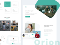 Orion Podcast Landing Page