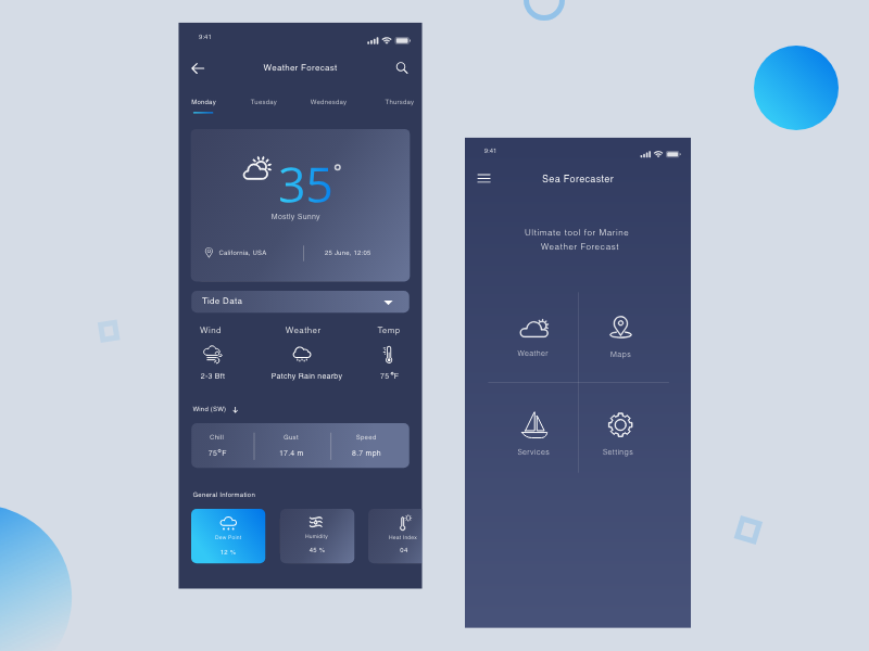Marine Weather Forecast App by Hunain on Dribbble on