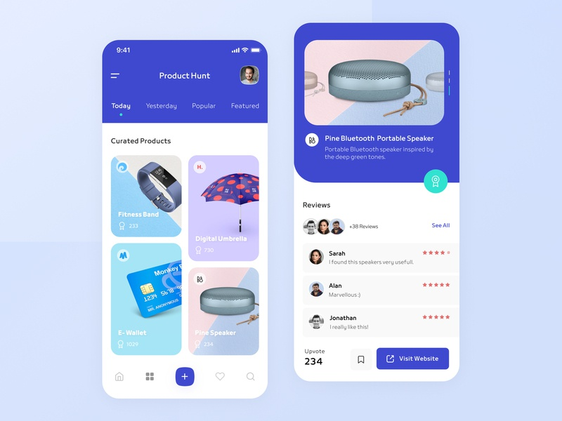 Product Hunt Mobile App ios application product app product hunt app design product hunt android app design android app ios app design iosapp ios user interface design mobile app daily ui ui design app daily ui challenge user interface ux ui