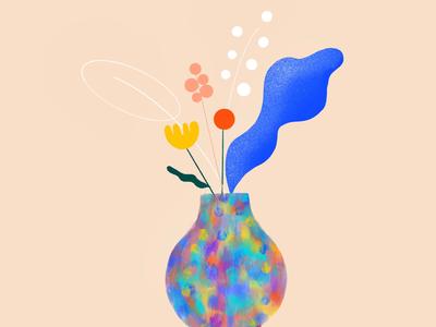 Bloom... procrate design bloom blue flowers ilustration