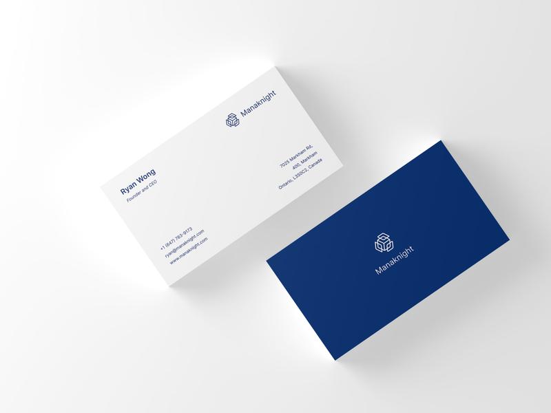 Manaknight business card design. identity business visual design design business card logo branding