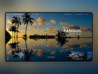 Tenang - Bali tropical resort landing page concept