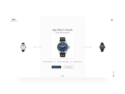 IWC landing page concept