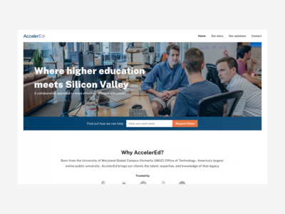 AccelerEd redesign- new tech for higher ed