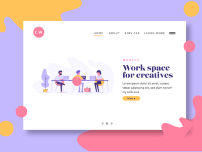 Creative Work Space Landing Page