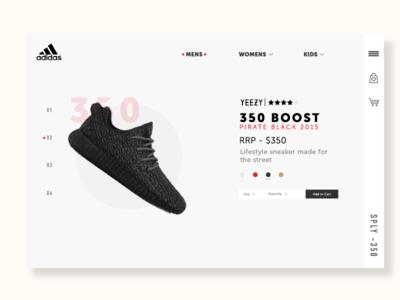 Adidas | Rebound | UX/UI Practice