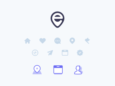 Event Theme Icons geo user discover pin location date theme wordpress events set icons icon