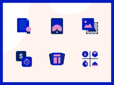 Vendify Marketing Icons payments document wordpress theme layout image phone icon set icons