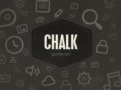 Chalk Glyph Set chalk glyphs set icons freebie iconset vector chunky fat free creative market fat free