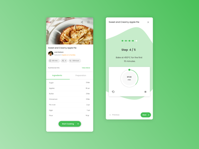 Cookin' - Cooking App - UX/UI prototype user interface cooking app mobile app app ui ux ui ux design