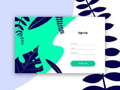 #DailyUi Sign Up Page ui ux sign up website design flat web ux vector ui illustation daily challange dailui daily 100