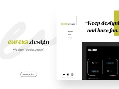 """We open """"eureka.design""""!"""